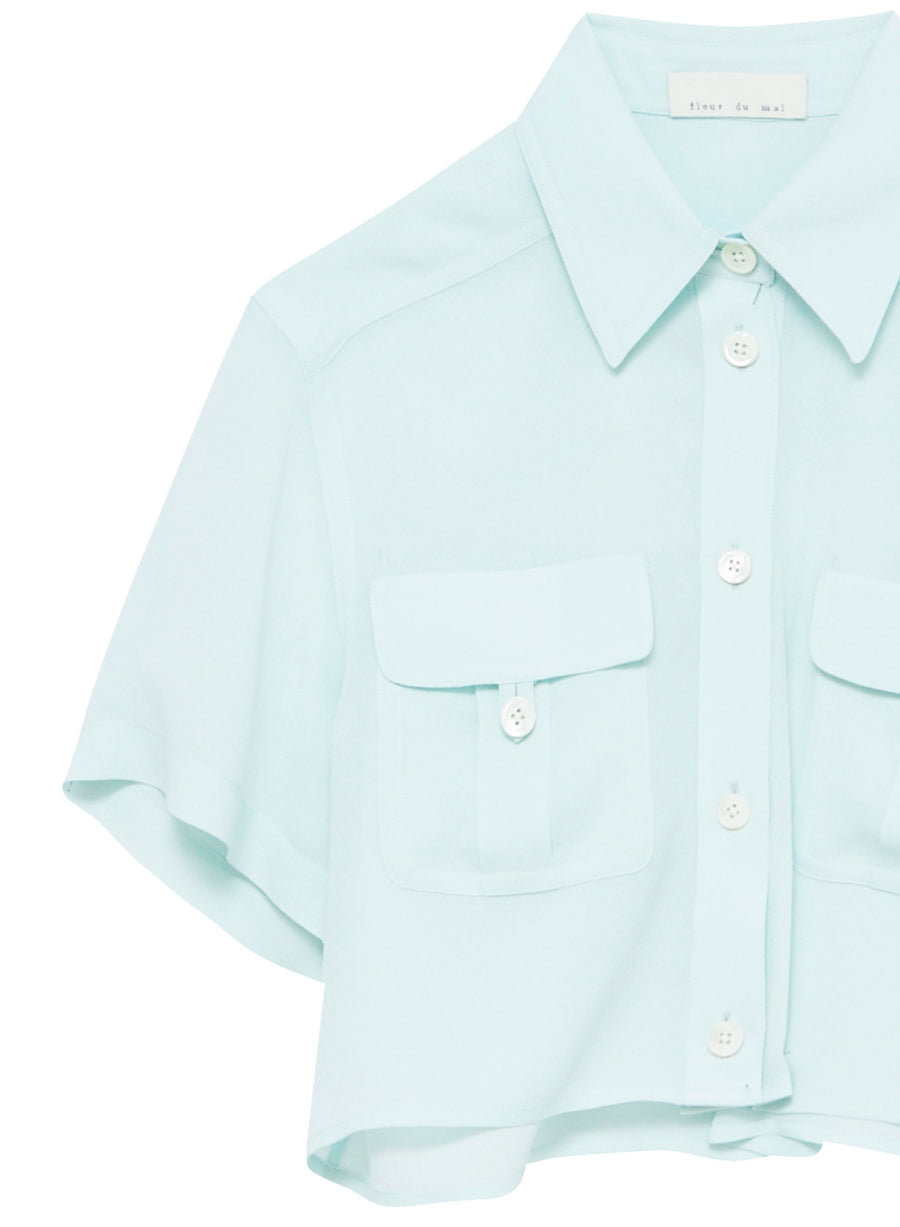 Cropped Silky Work Shirt
