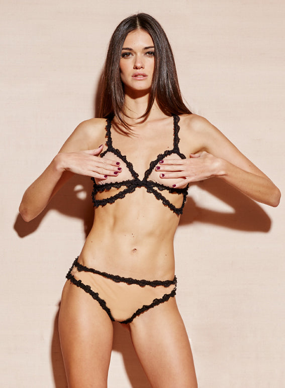Lace Bondage Triangle Bra