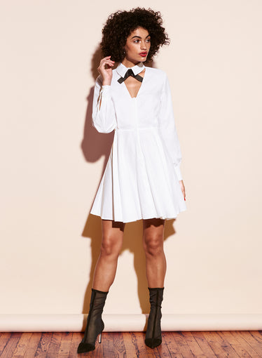 Cotton Shirting Cutout Dress