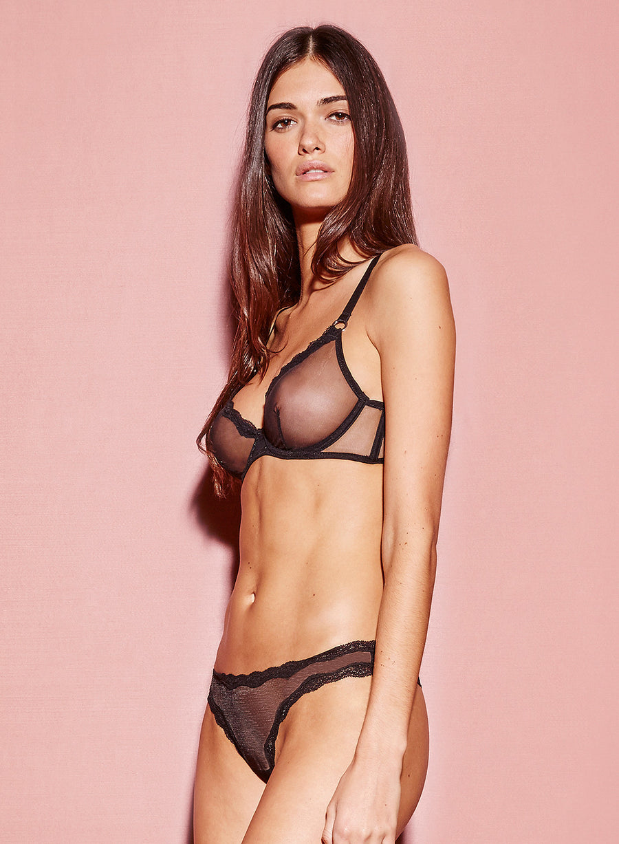 Sheer Tulle Demi Bra