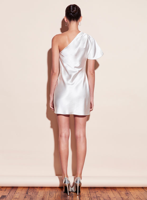 One Shoulder Bias Mini Dress