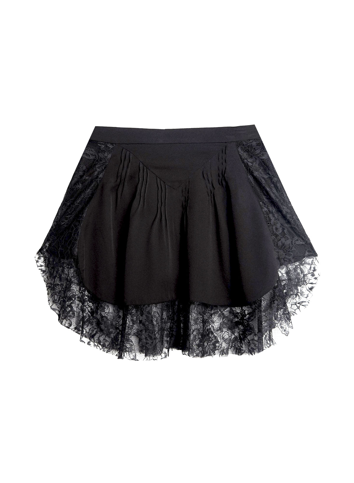 Lou Lou Lace Border Pintuck Skirt