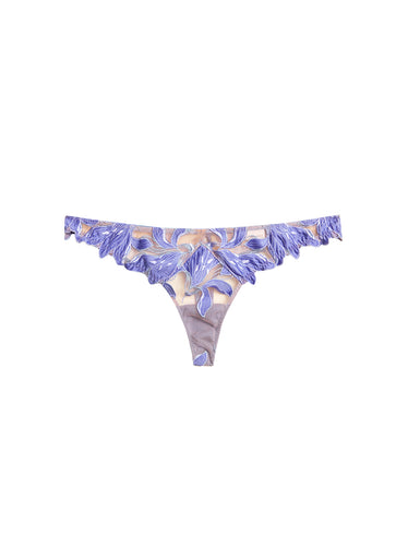 Lily Embroidery Hipster Thong