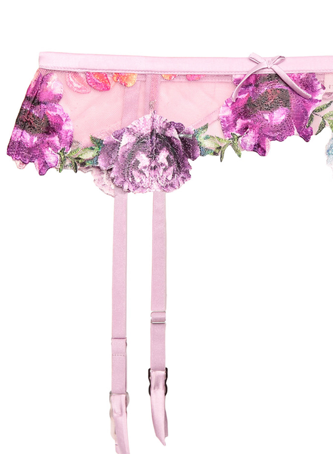 Monet Embroidered Garter Belt