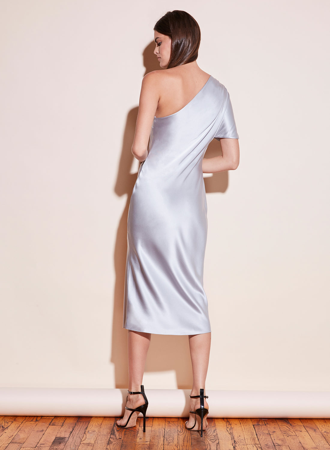 One Shoulder Bias Slip Dress