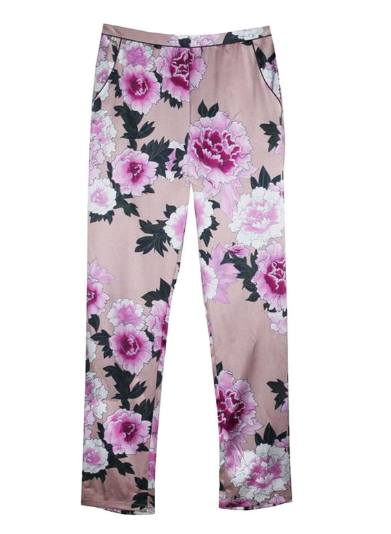 Contrast Back Seam PJ Pants