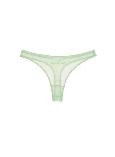 Logo Embroidered Tricot Thong