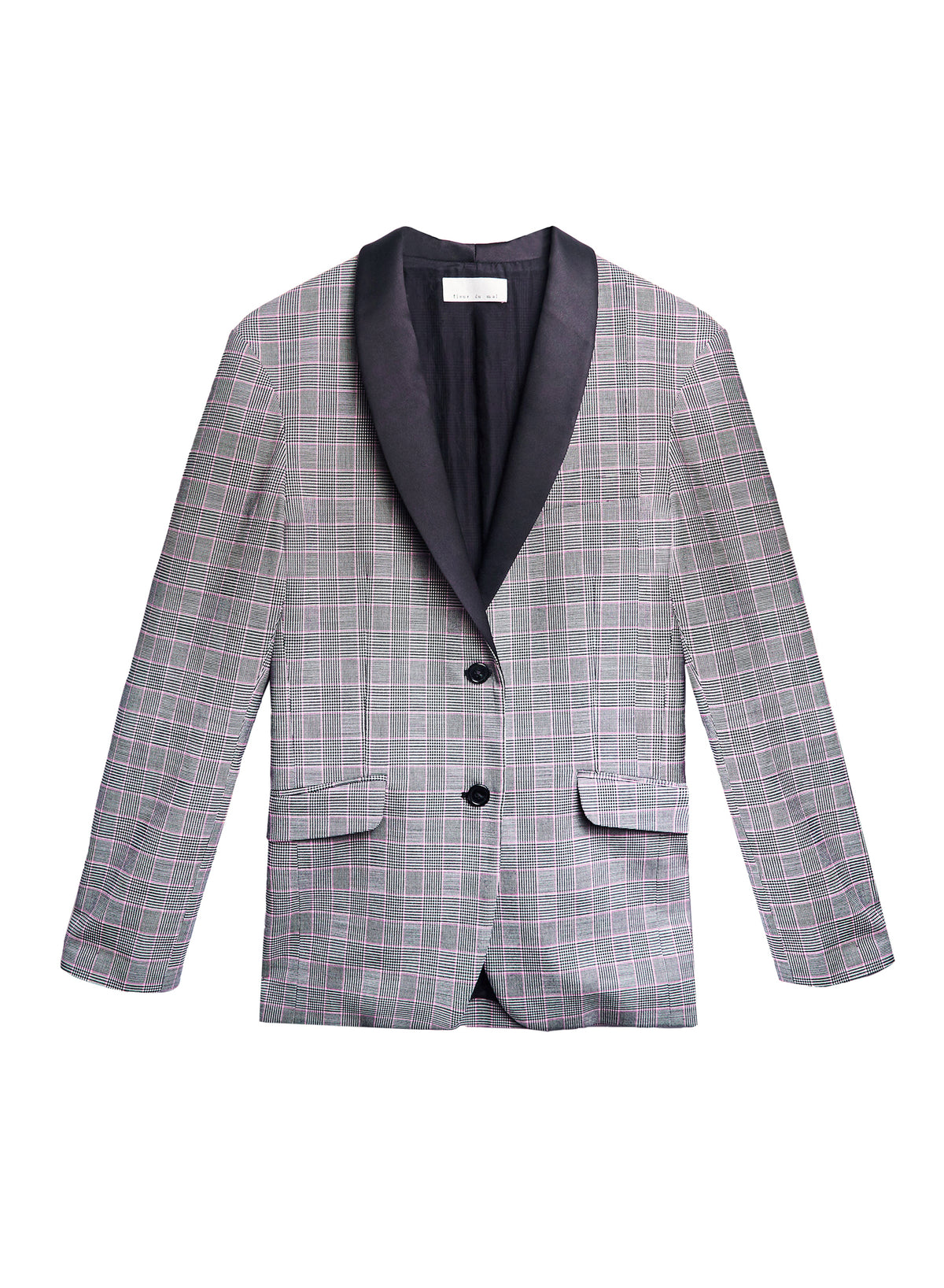 Plaid Check Blazer