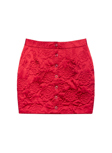 Rose Quilted Skirt