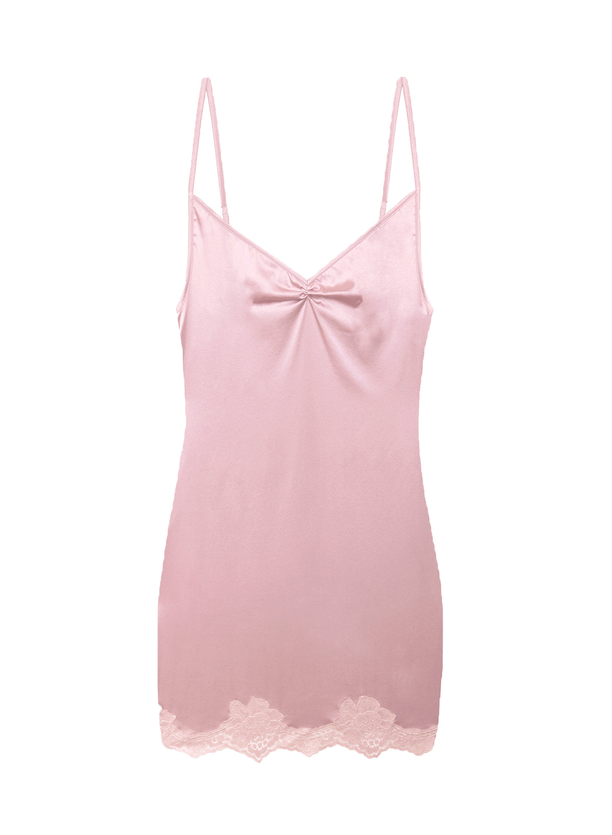 James Lace Rouched V-Neck Slip