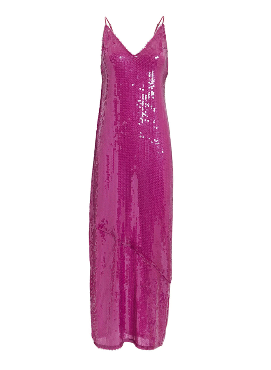 Long Sequin Slip