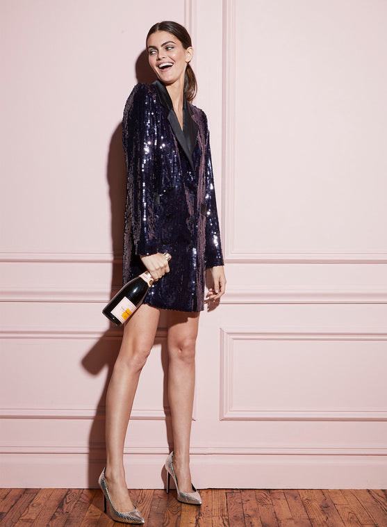 b9f86aae273 Sequin Blazer Dress ...