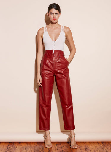 Leather V-Yoke Pant
