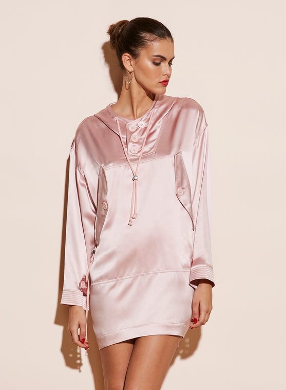 Silk Anorak Dress
