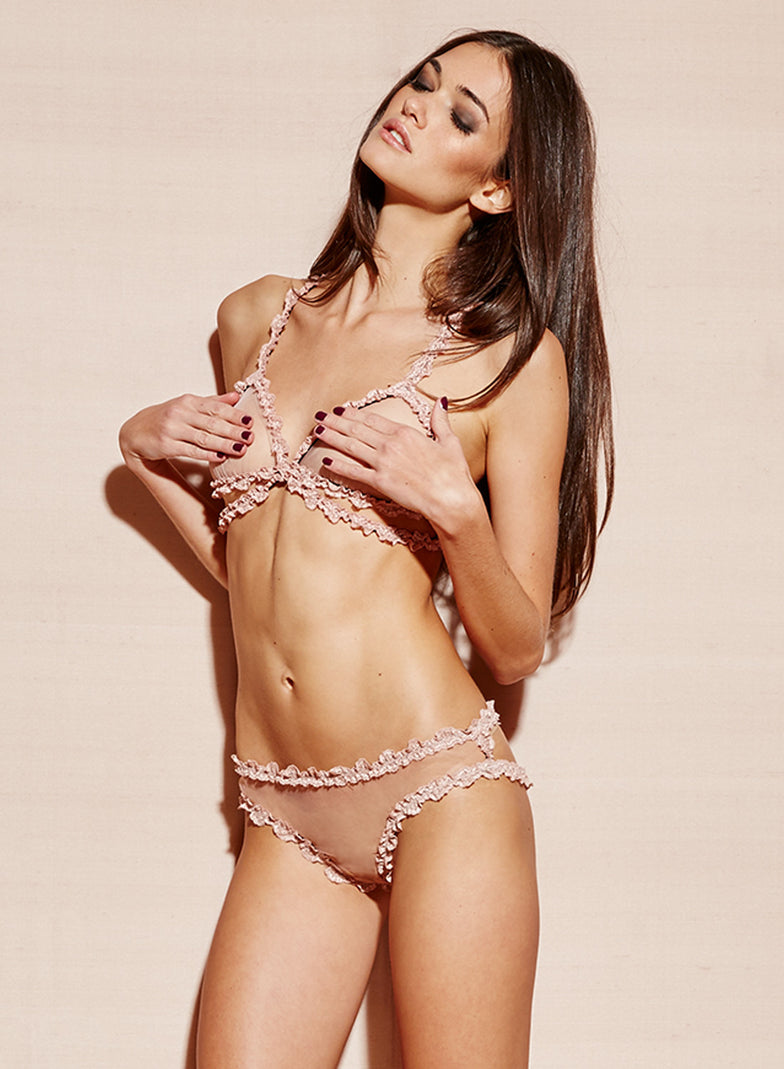 Girl Tied Up In Bra And Panties