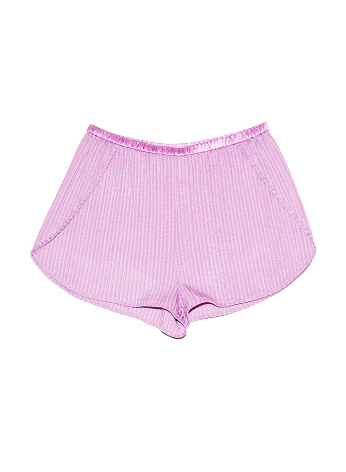 Ribbed Knit Tap Short
