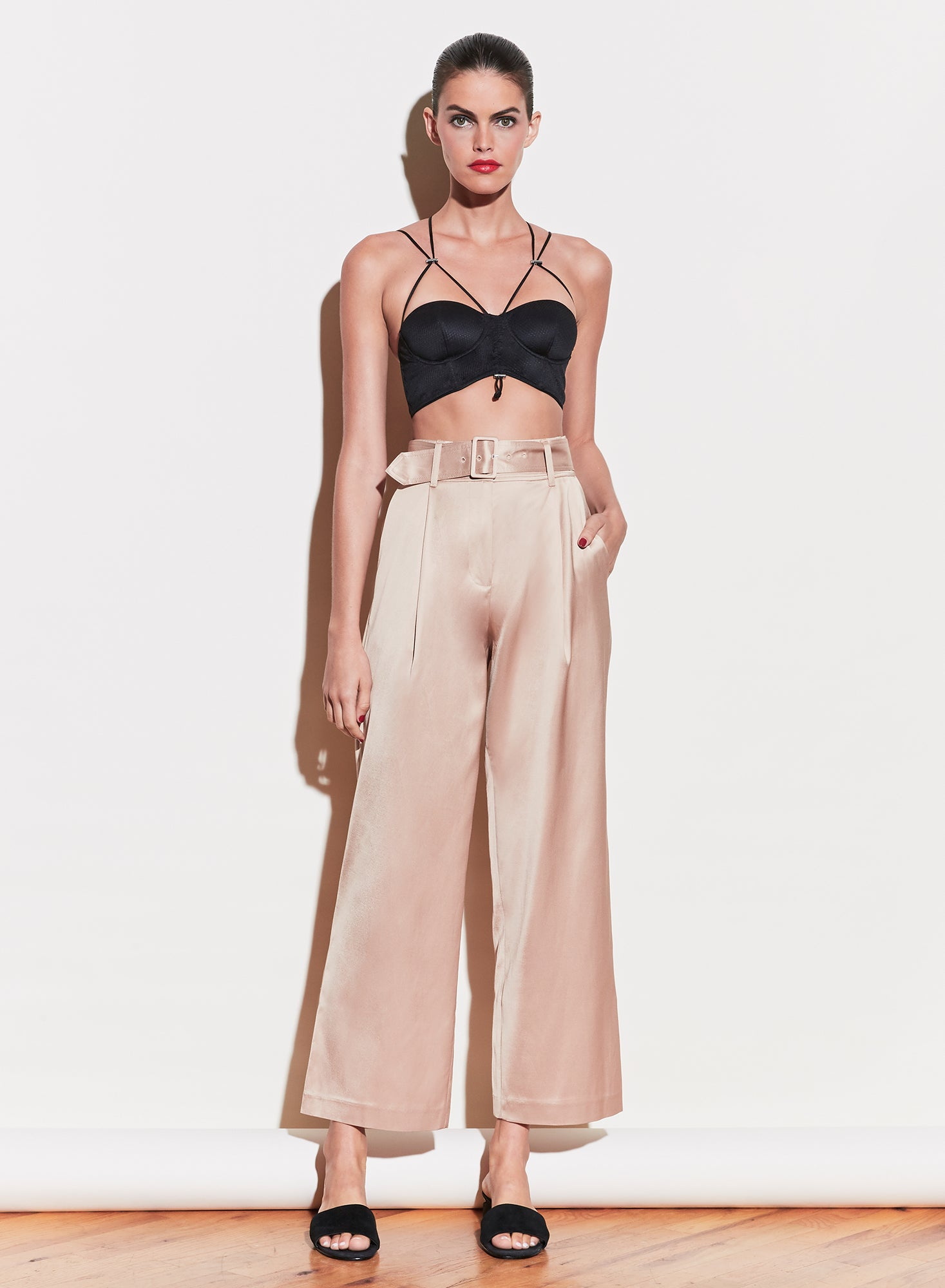 Twill Belted Trouser