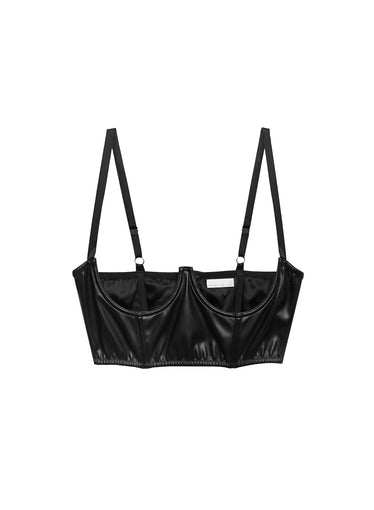 Vegan Leather No Cup Bustier
