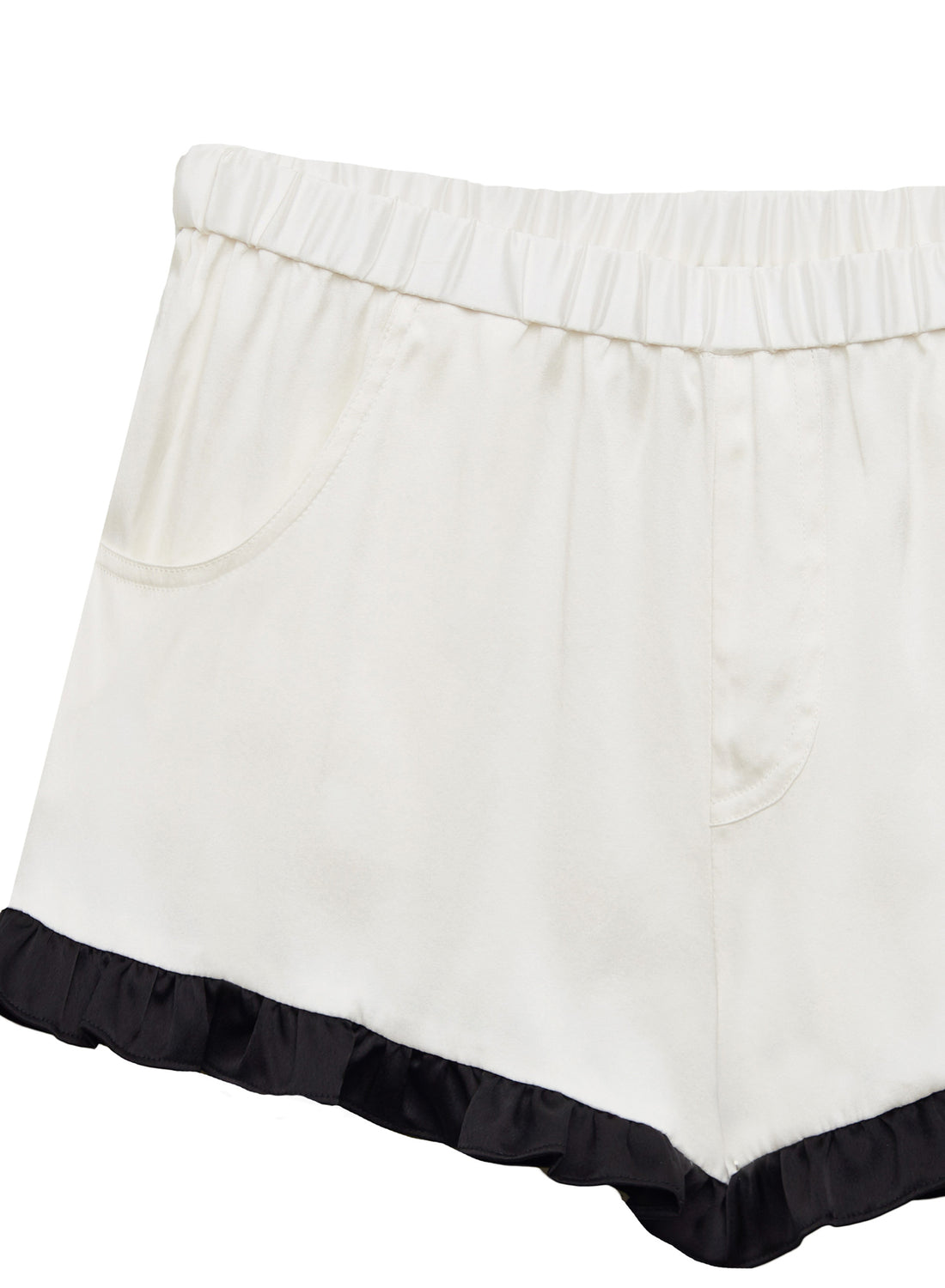 Washable Silk Ruffle Shorts