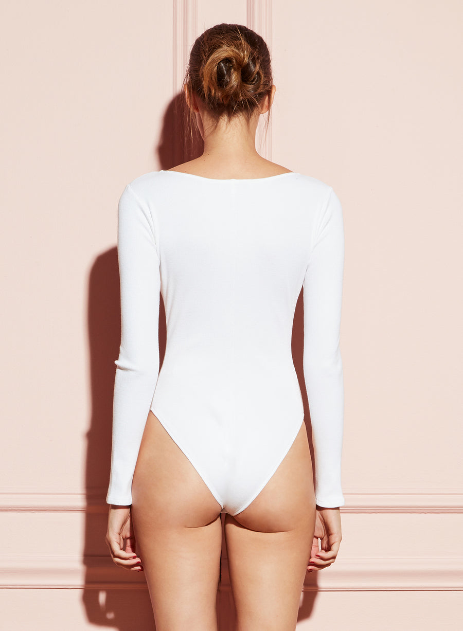 Deep Scoop Neck Bodysuit