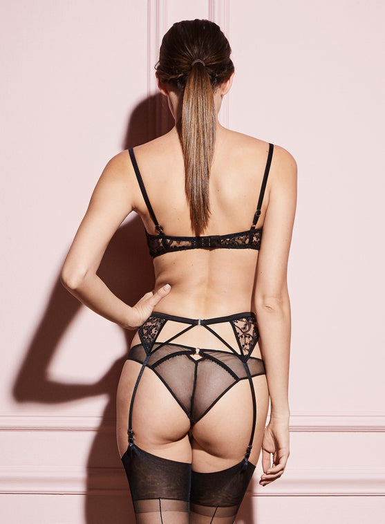 Flocked Lace Cheeky
