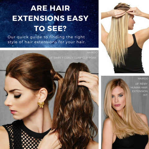 Are Hair Extensions Easy to Hide?