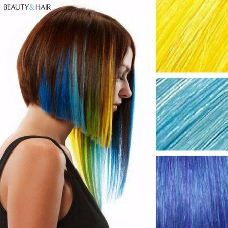 Styling Brightly Colored Hair Extensions