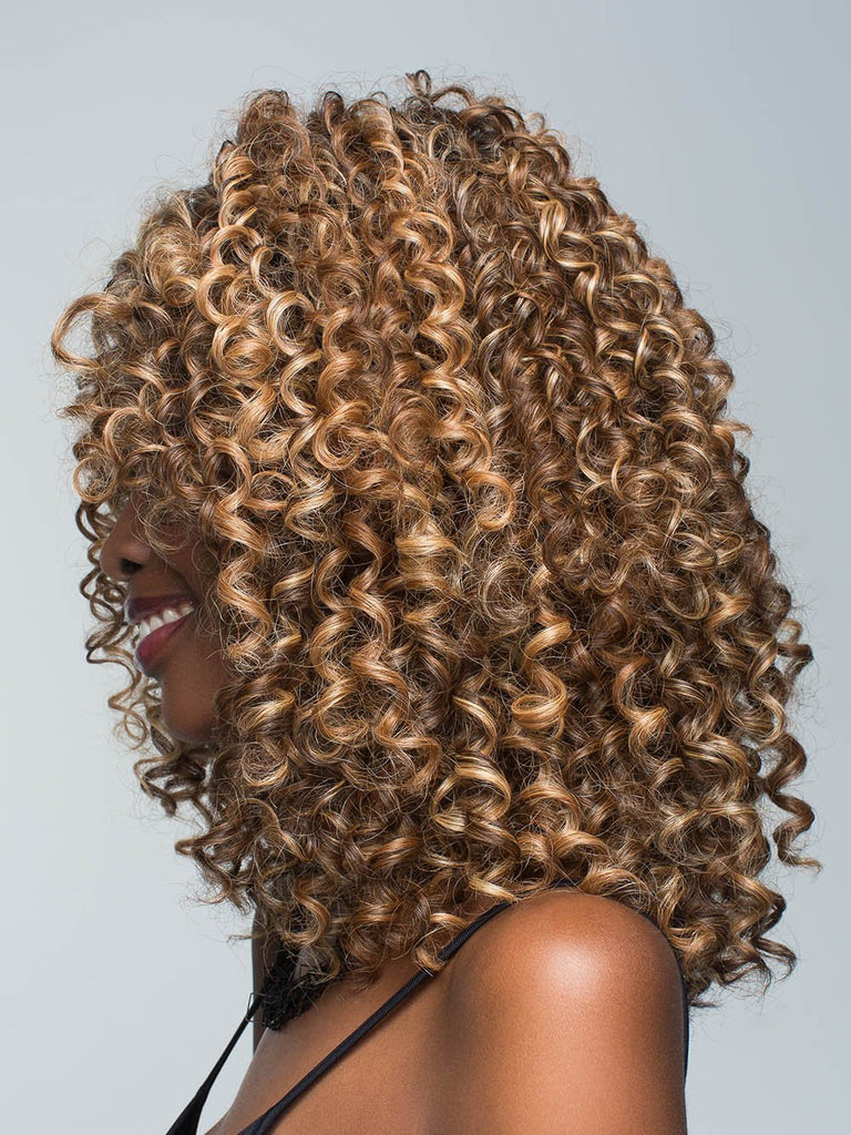 Make a bold statement with Diva by Revlon in this sexy mane of tight curls