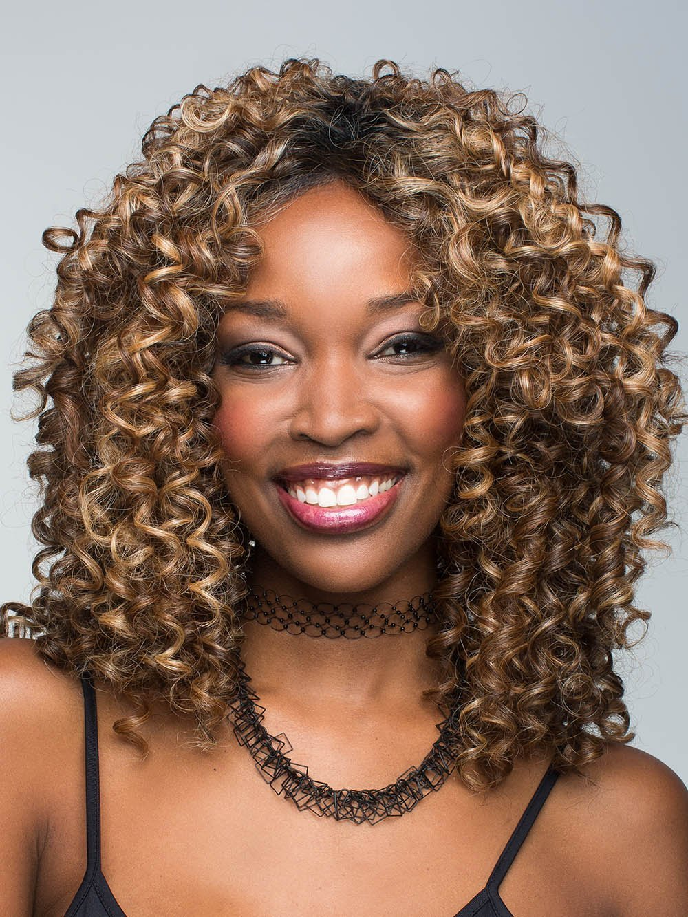 Diva By Revlon Colored Curly Wig With Lace Front Hair Extensions