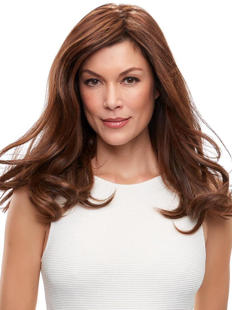 "Top Form French 18"" by easiHair is designed to add gorgeous all-over volume at the crown, this Remy human hair topper clips in easily behind the hairline"