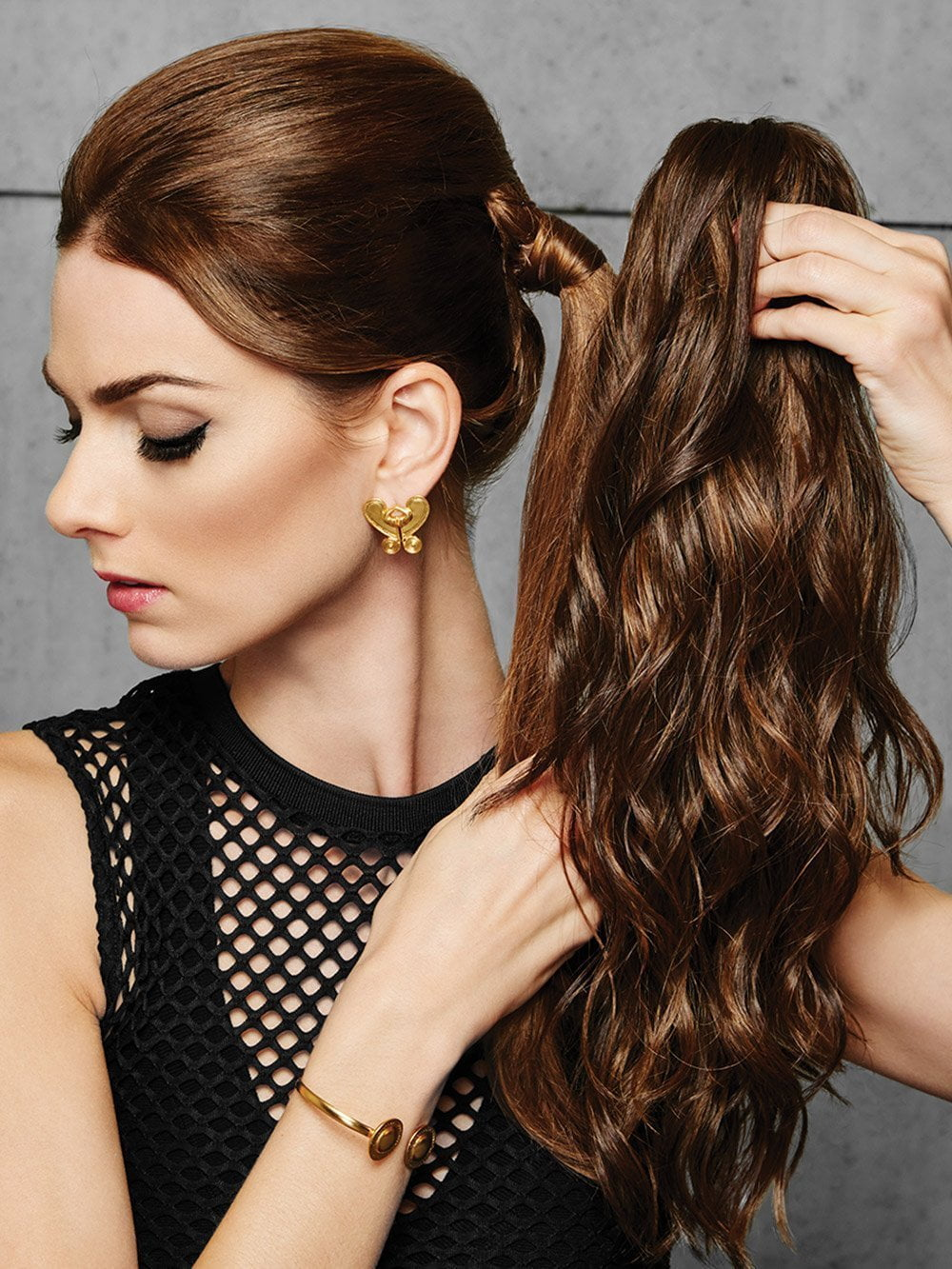 18 Quot Simply Curly Claw Clip Ponytail By Hairdo Hair