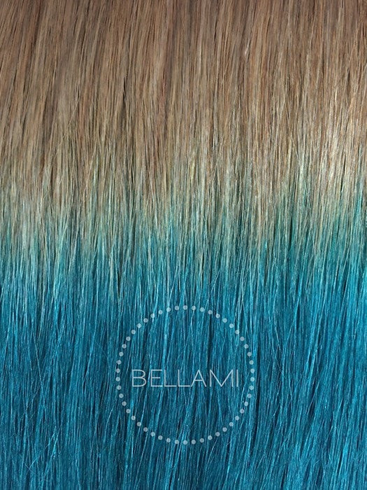Color 18/TEAL = Dirty Blonde Tipped with Teal