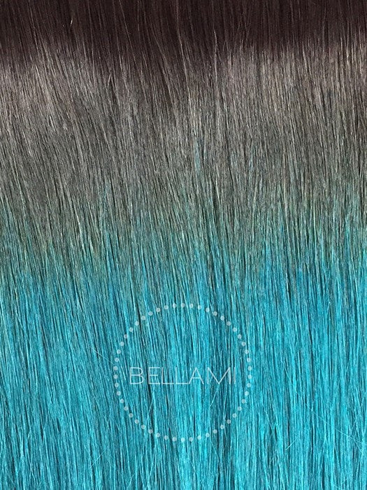 Color 2/TEAL = Dark Brown Tipped with Teal