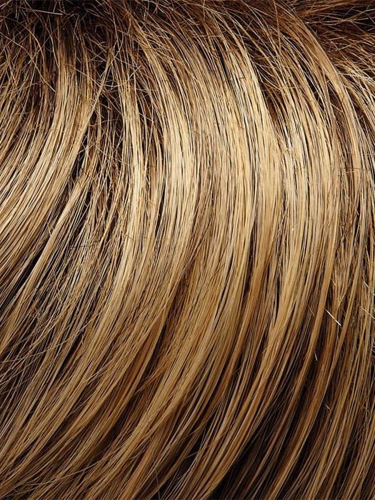 Color 24BT18S8 = Shaded Sun: Strawberry Blonde/Warm Platinum Blonde Blend, Shaded w/ Med Brown