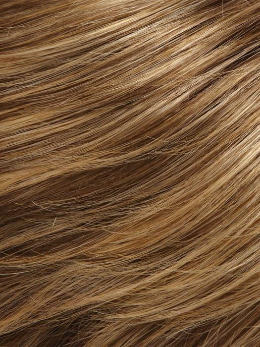 Color 24BT18 = Blonde Éclair: Dk Ash Brown & Honey Blonde Blend, w/ Honey Blonde Tips