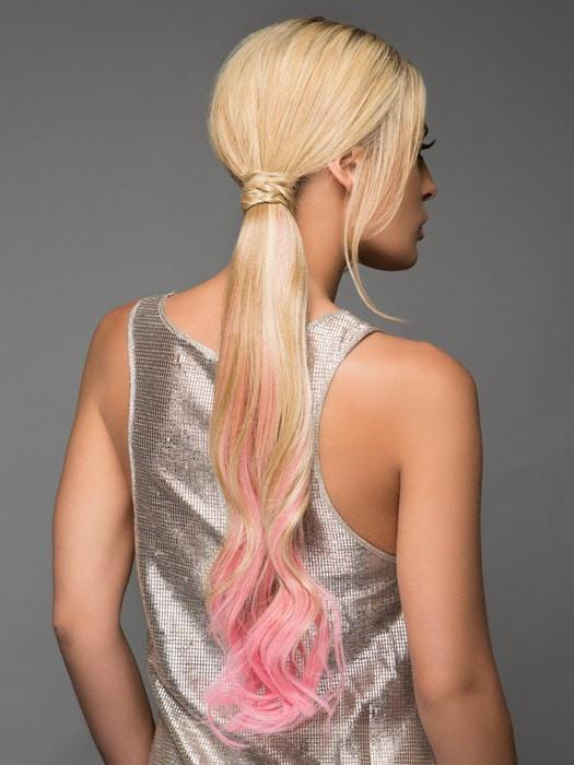 Wear it in a low or high ponytail