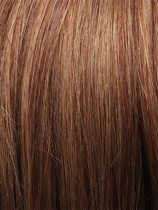 Color 3126 = Amber: Red w/ Caramel Blonde Tips