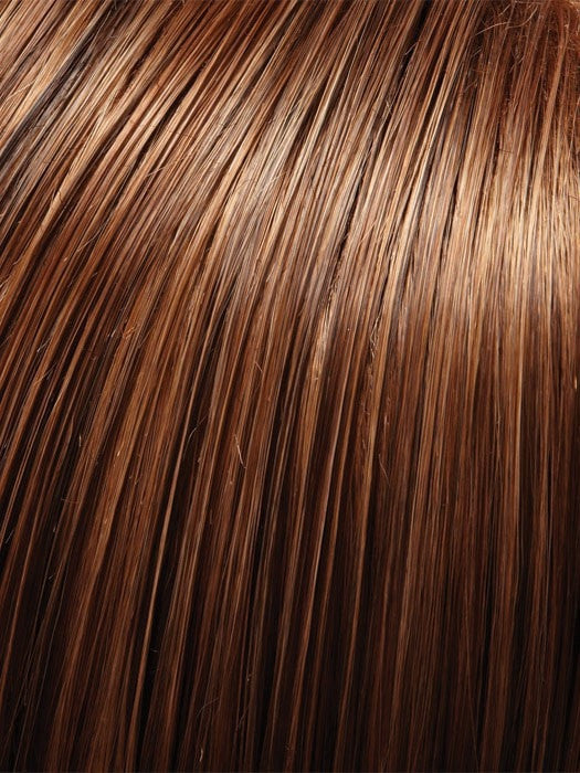 Color 4/27/30 = German Chocolate: Dk Brown, Strawberry Blonde & Golden Red Blend