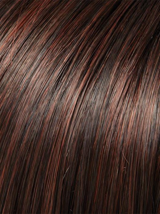 Color 4/33 = Chocolate Raspberry Truffle: Dark Brown & Dark Red Blend