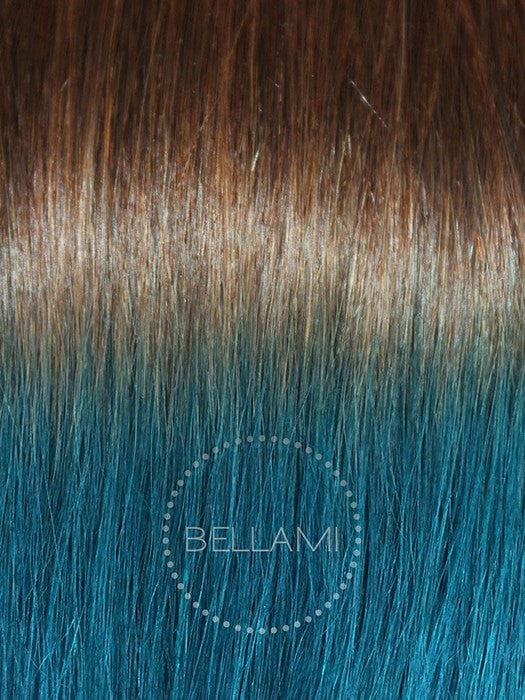 Color 4/TEAL = Chocolate Brown Tipped with Teal
