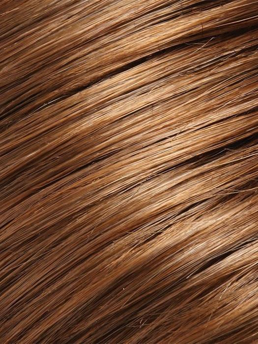 Color 8/30 = Cocoa Twist: Medium Brown & Golden Red Blend
