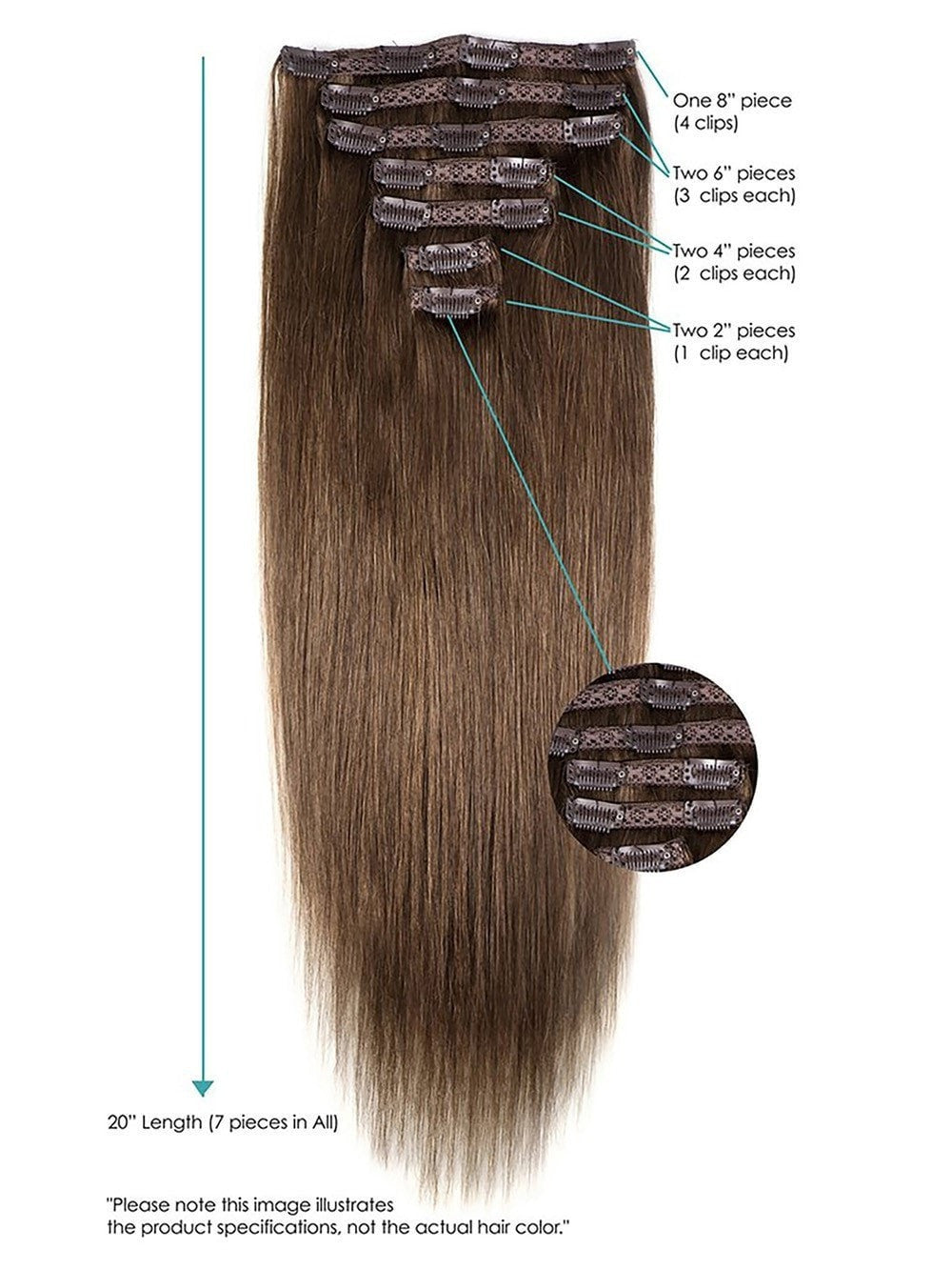 20 Clip In Hair Extensions By Leyla Milani Remy Human Hair Hair