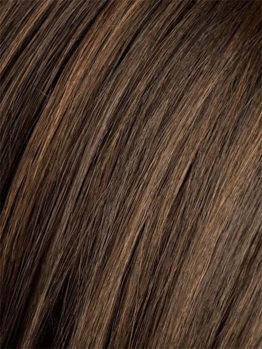 Color CHOCOLATE-MIX = Medium to Dark Brown base with Light Reddish Brown highlights