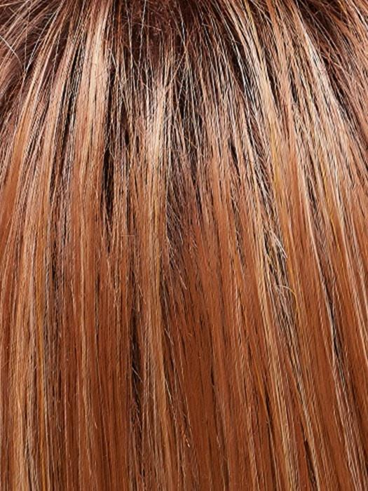 Color FS26/31S6 = Salted Caramel: Medium Natural Red Brown with Red Gold Blonde Bold Highlights, Shaded with Brown