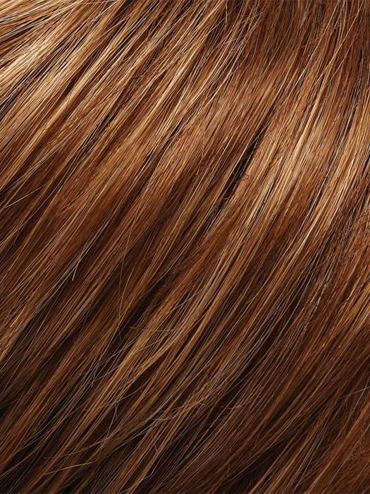 Color FS27 = Strawberry Syrup: Golden Red w/ Strawberry Blonde & Honey Blonde Highlights
