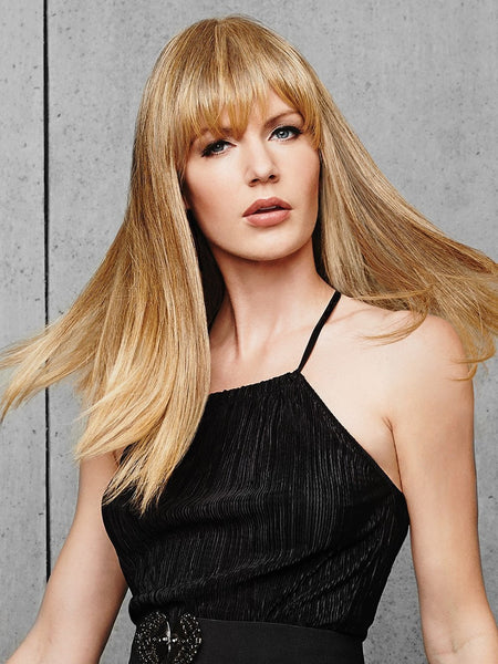FRINGE TOP OF HEAD Hair Topper by HAIRDO in R14/25 Honey Ginger | Dark Blonde Evenly Blended with Ginger Blonde