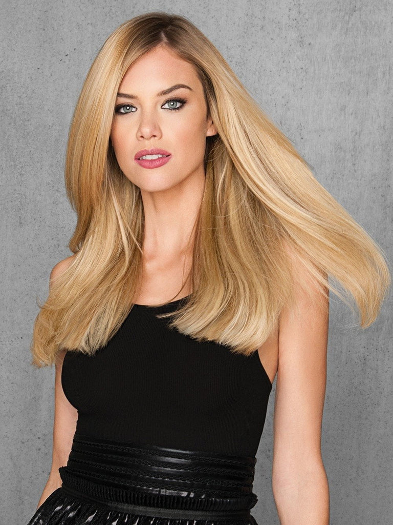 "20"" Human Hair Extension by HAIRDO in color R9HH LIGHT GOLDEN BLONDE"