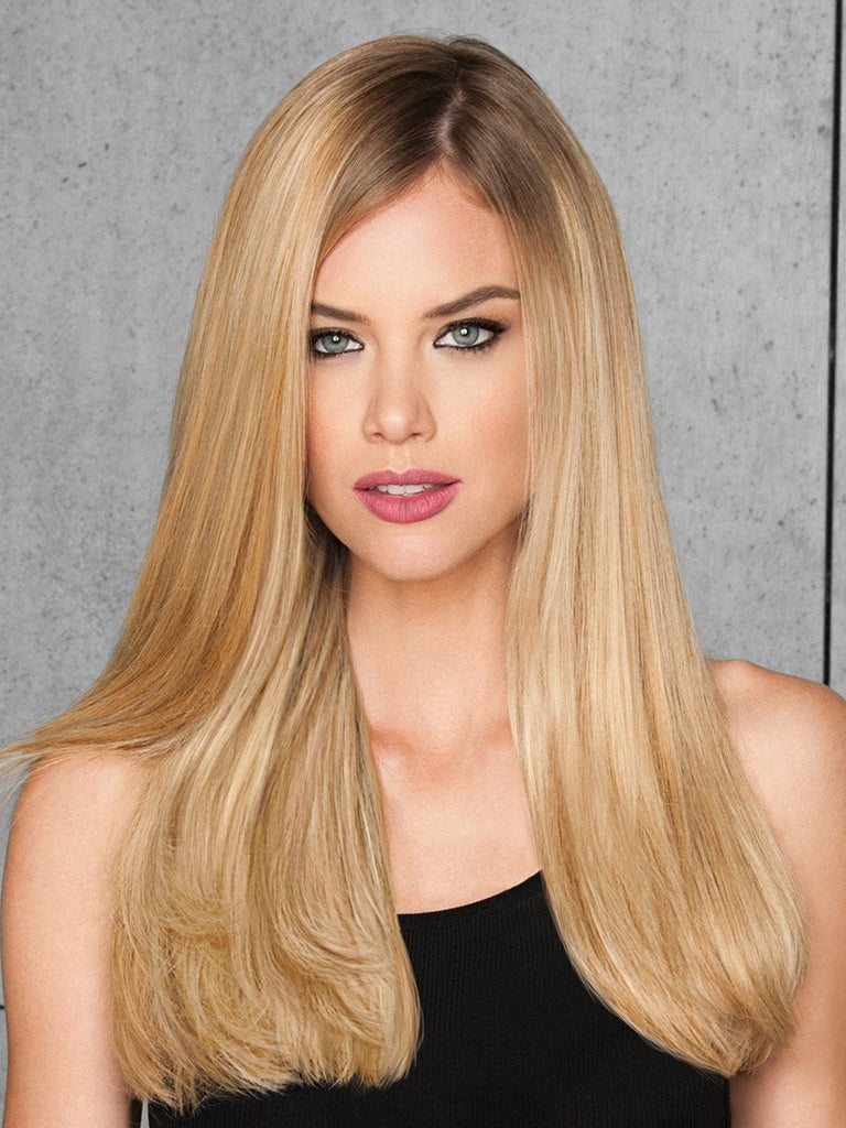 "Color R9HH LIGHT GOLDEN BLONDE | 20"" Human Hair Clip-In Extension by HAIRDO"