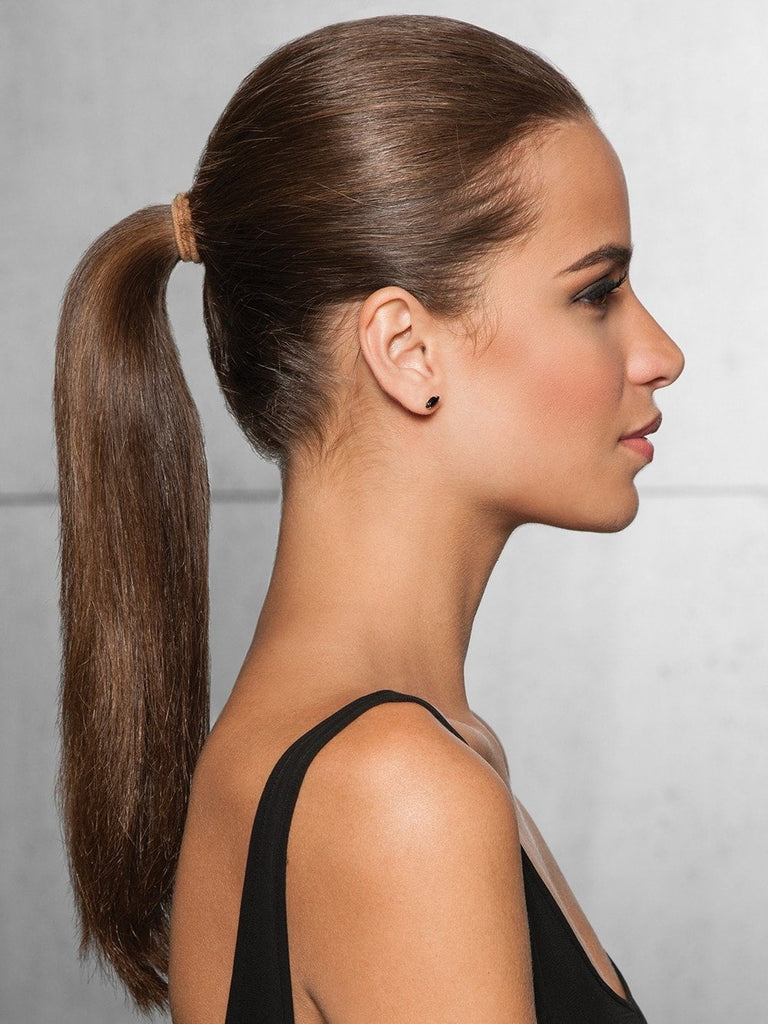 Before you apply the wrap-around ponytail