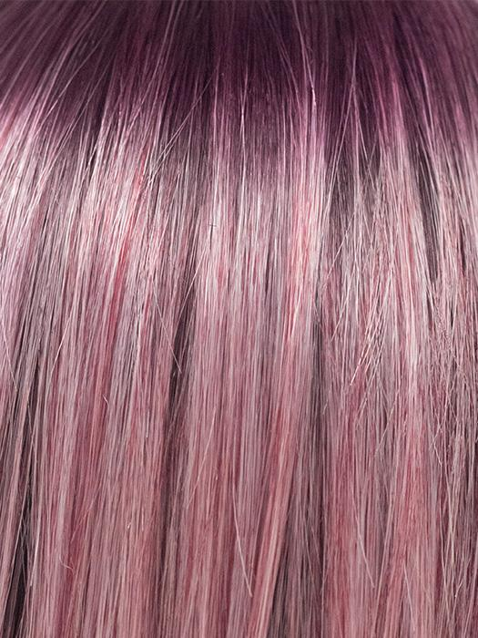 MELTED PLUM | Dark purple roots melt into lighter blended purple.